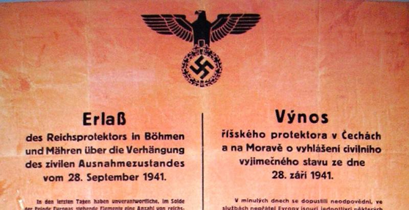 Moderní-Dějiny.cz   Výjimečný stav po nástupu Reinharda Heydricha do vedení  Protektorátu (28. 9. 1941)